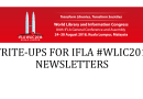 INVITATION TO HEADS OF LIBRARIES TO PROVIDE WRITE-UPS FOR IFLA #WLIC2018 NEWSLETTERS