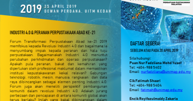 [PROGRAM PPM UTARA] JEMPUTAN KE FORUM TRANSFORMASI PERPUSTAKAAN ABAD KE-21 (FTPA21) 2019