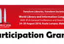 Participation Grants for 40 Malaysia Delegates in IFLA World Library and Information Congress